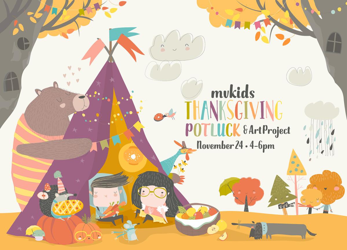 MVKids Thanksgiving Potluck & Art Project